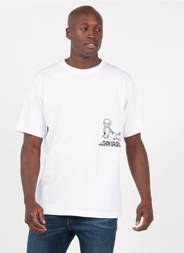 DIESEL Tee-shirt col rond regular-fit brodé en coton  Blanc