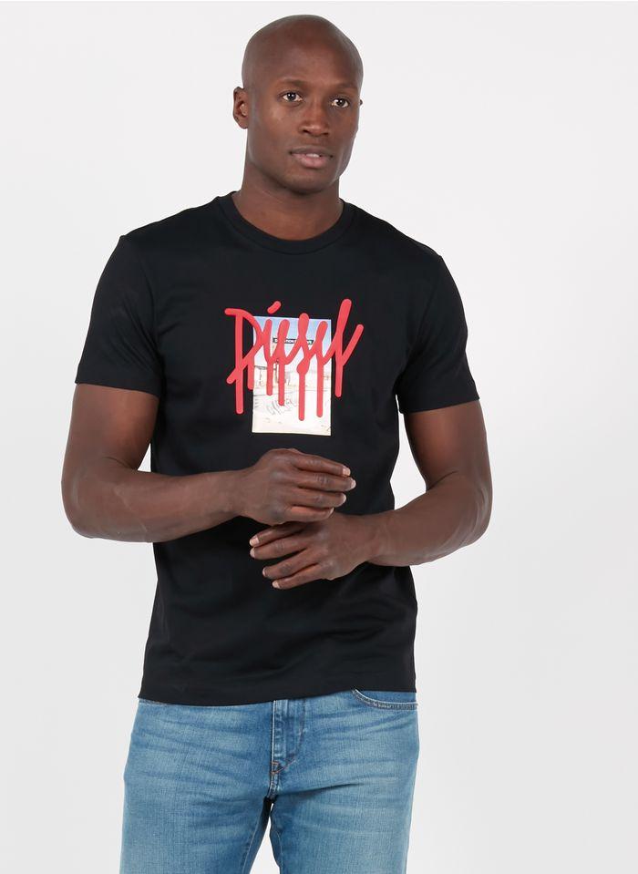 DIESEL Tee-shirt col rond regular-fit en coton Noir