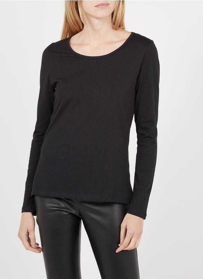 EKYOG Tee-shirt col rond en coton Noir