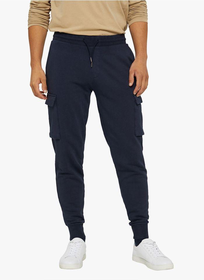 ESPRIT Jogging slim-fit  en coton mélangé Bleu