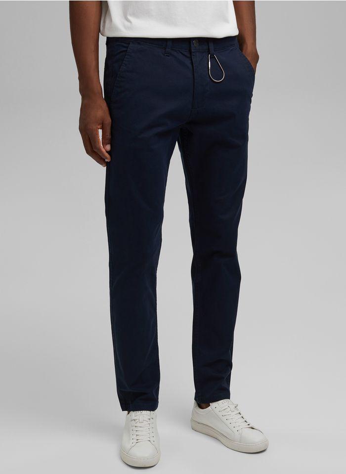 ESPRIT Pantalon droit chino Bleu
