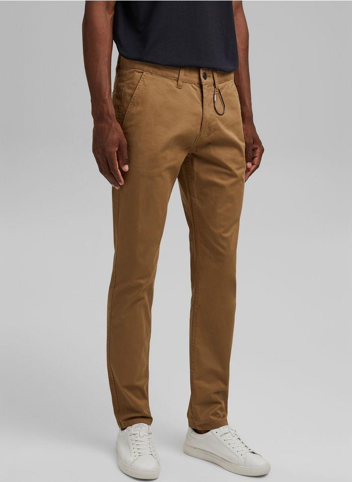 ESPRIT Pantalon droit chino Marron