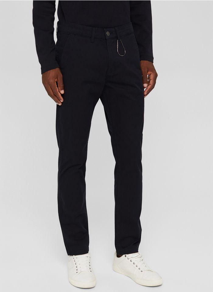 ESPRIT Pantalon droit chino Noir