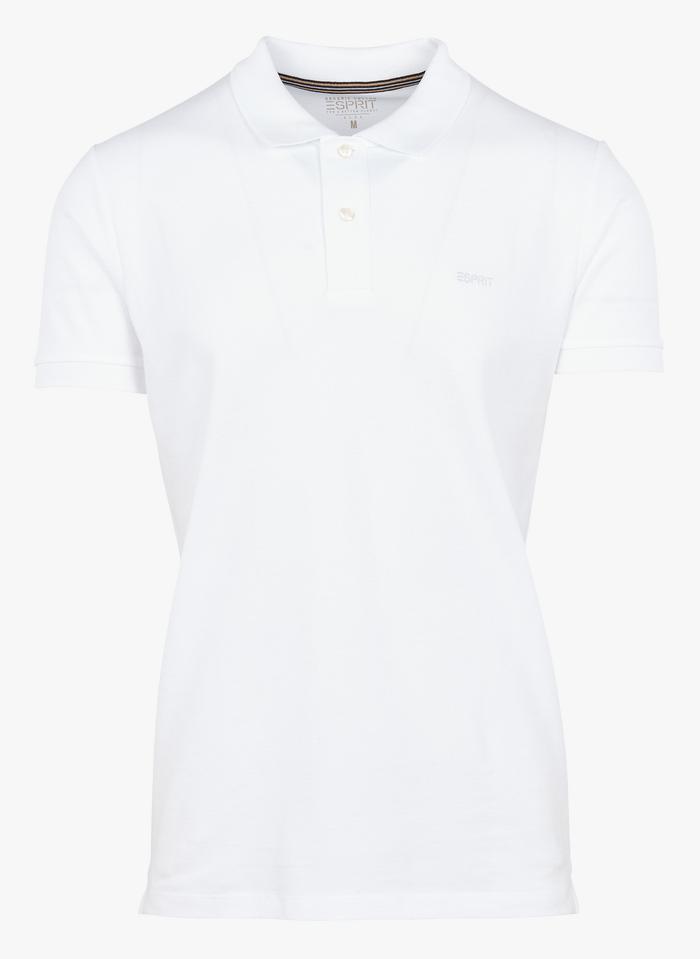 ESPRIT Polo regular-fit en coton Blanc