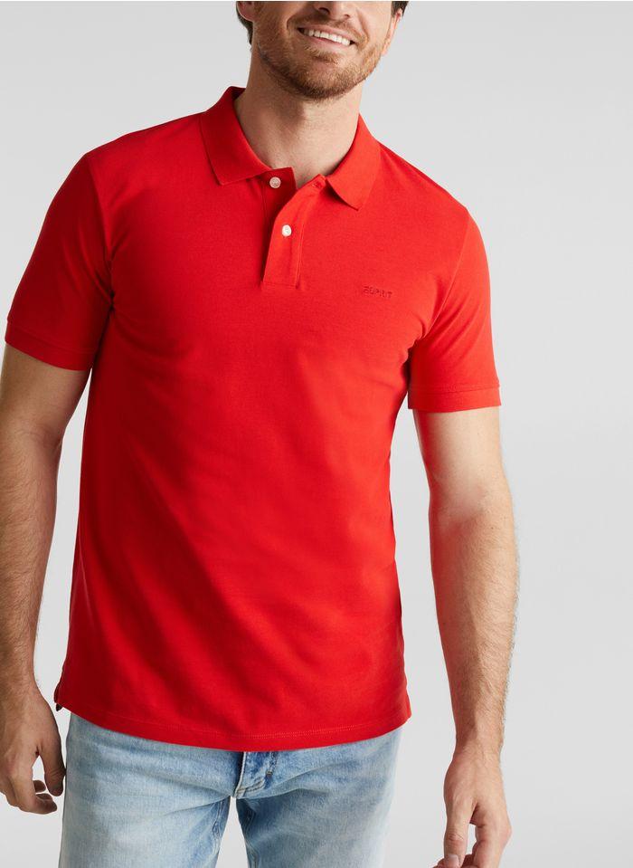 ESPRIT Polo regular-fit en coton Rouge