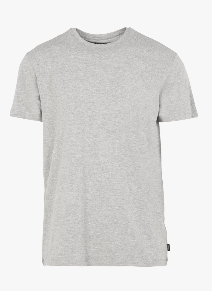 ESPRIT Tee-shirt col rond regular-fit chiné en coton mélangé Gris