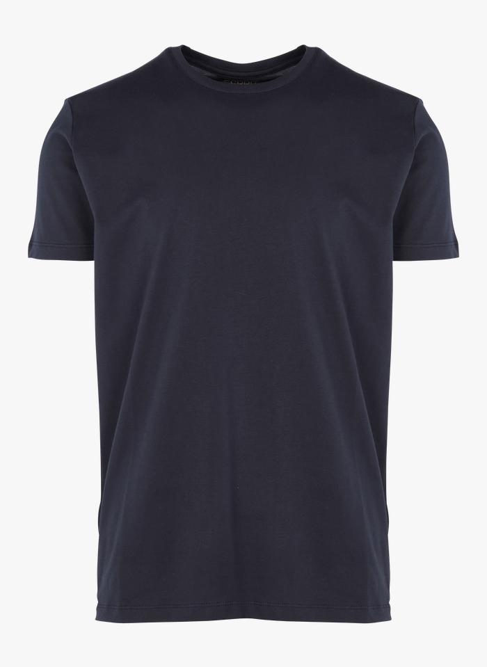 ESPRIT Tee-shirt col rond regular-fit en coton bio Bleu