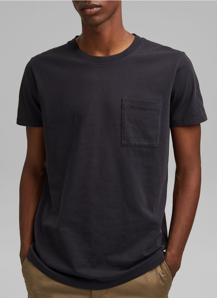 ESPRIT Tee-shirt col rond regular fit en coton Noir