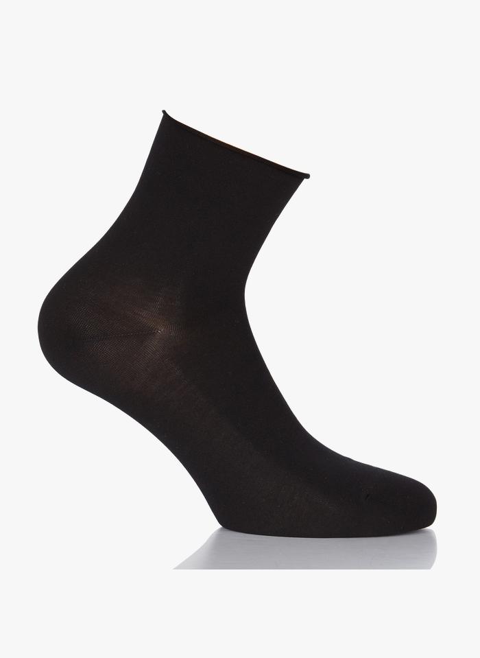 FALKE Chaussettes Cotton Touch en coton Noir