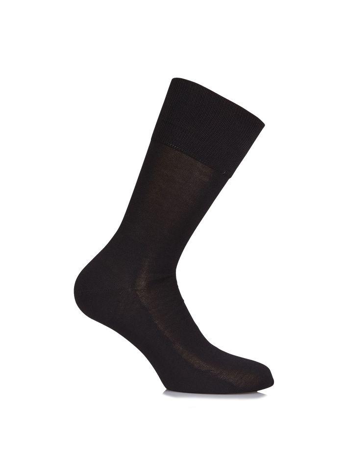 FALKE Chaussettes en coton fil d'Ecosse Noir