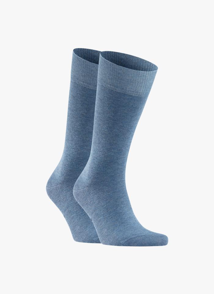 FALKE Lot de 2 paires de chaussettes en coton mélangé Bleu