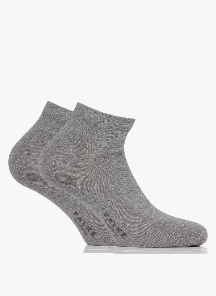 FALKE Lot de 2 paires de chaussettes en coton mélangé Gris