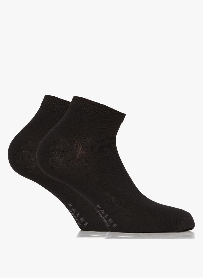 FALKE Lot de 2 paires de chaussettes en coton mélangé Noir