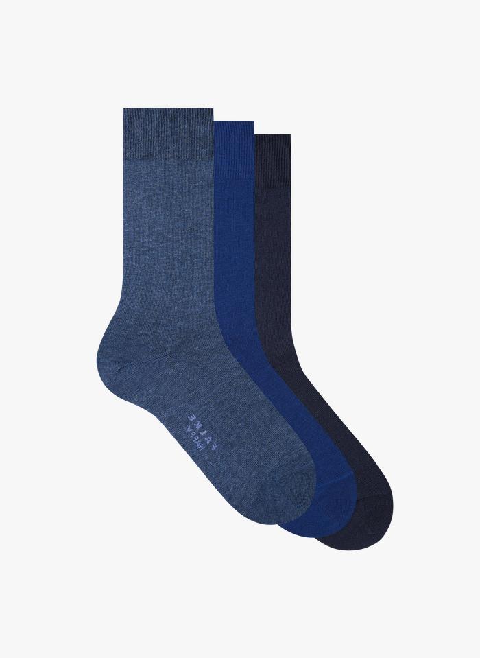 FALKE Lot de 3 paires de chaussettes en coton mélangé Multicolore