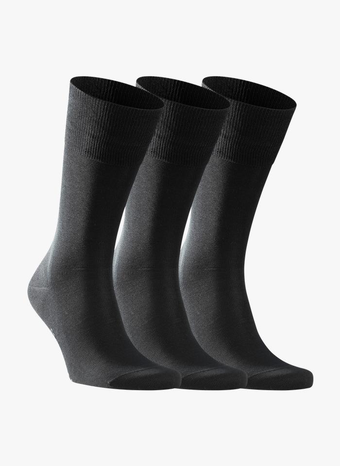 FALKE Lot de 3 paires de chaussettes Noir
