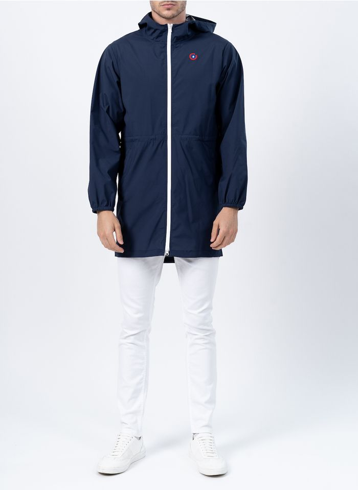 FLOTTE Imperméable à capuche convertible en sac à dos Bleu