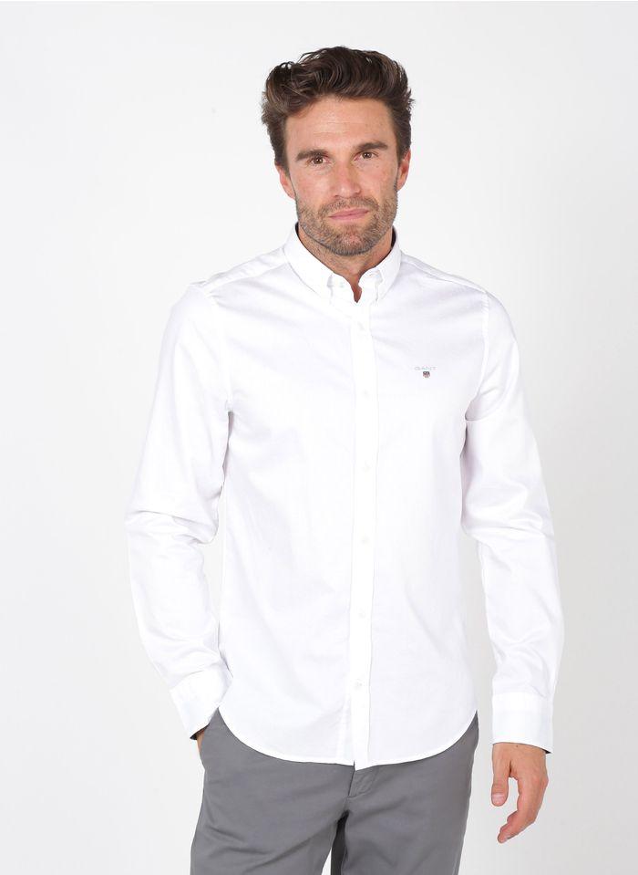 GANT Chemise col américain regular-fit en coton Blanc