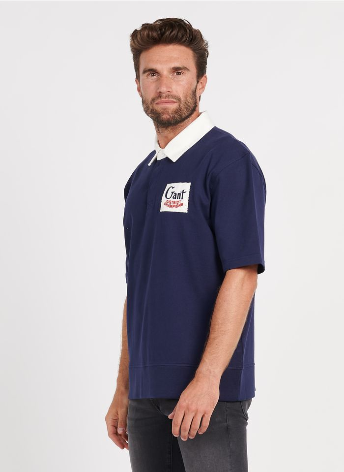 GANT Polo regular fit en coton Bleu