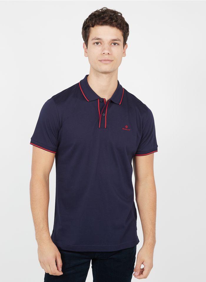 GANT Polo regular-fit en coton piqué Bleu