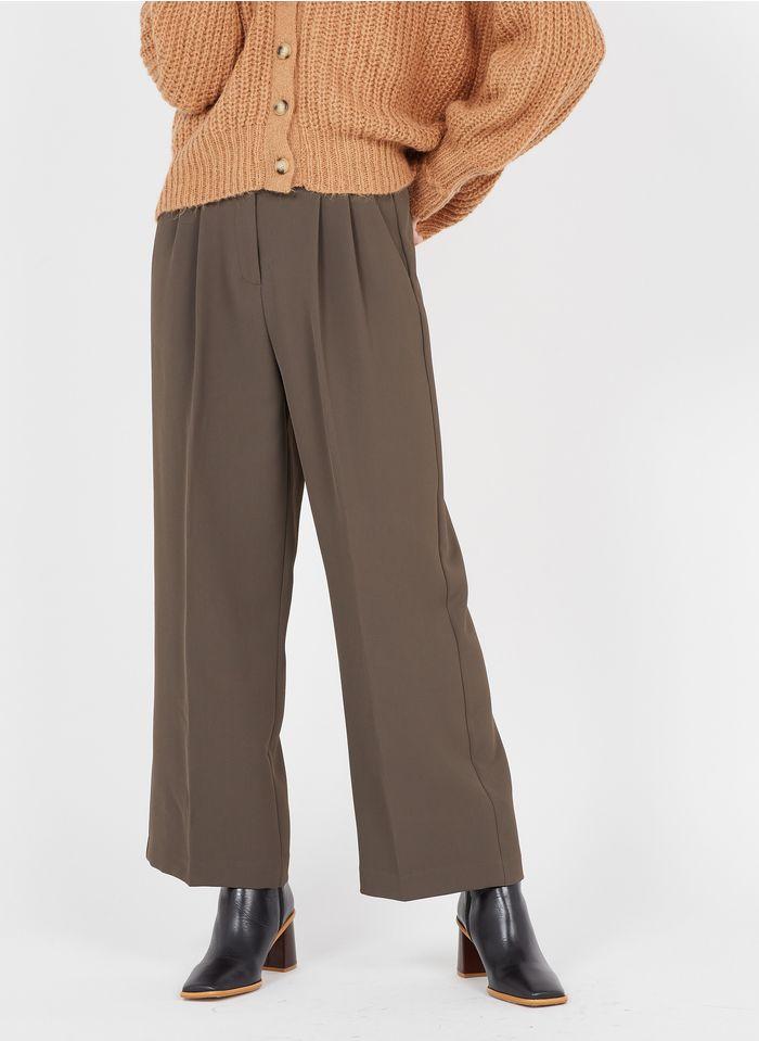 GRACE ET MILA Pantalon large à pinces Kaki