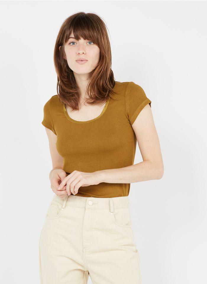 GRACE ET MILA Tee-shirt col rond  Kaki