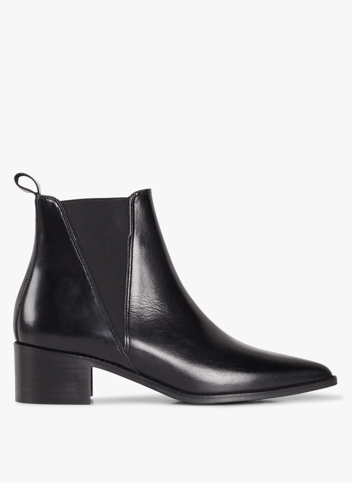 JONAK Chelsea boots pointues en cuir Noir