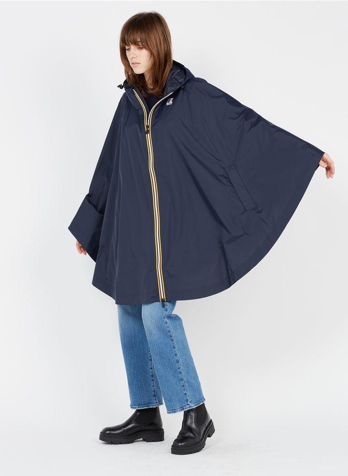 K-WAY Poncho zippé à capuche Bleu