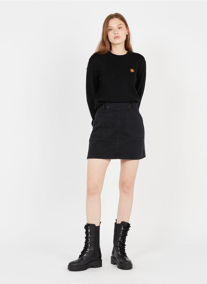 KENZO Jupe courte en jean Noir