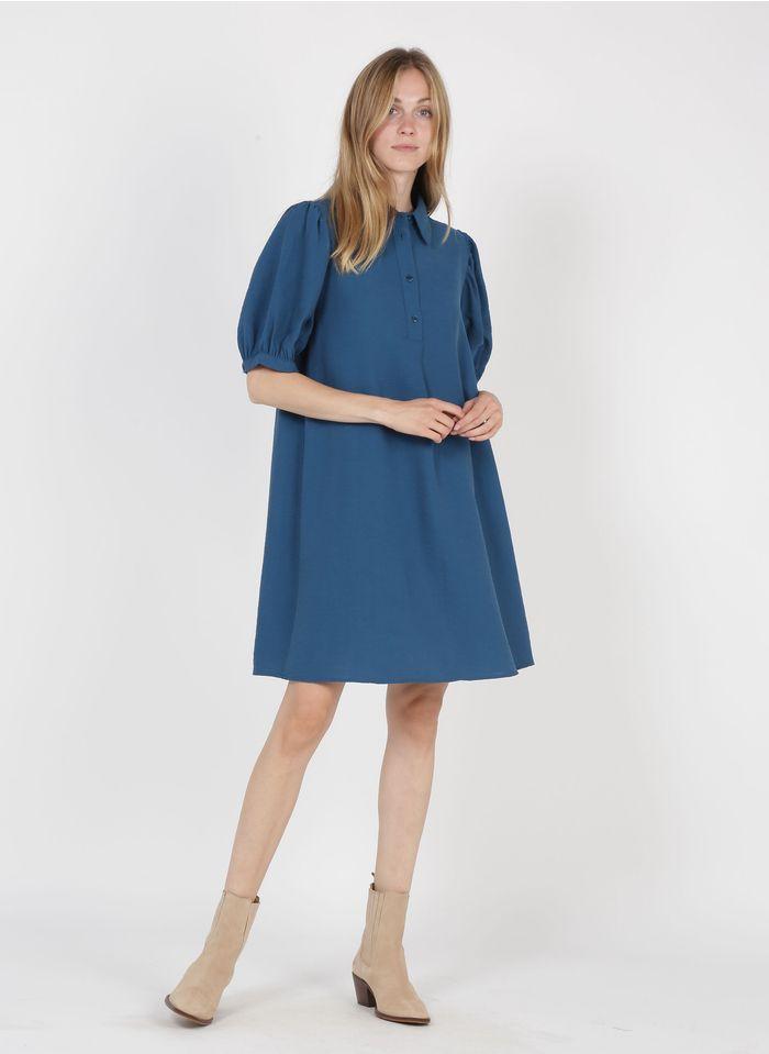 LA FEE MARABOUTEE Robe courte col classique  Bleu