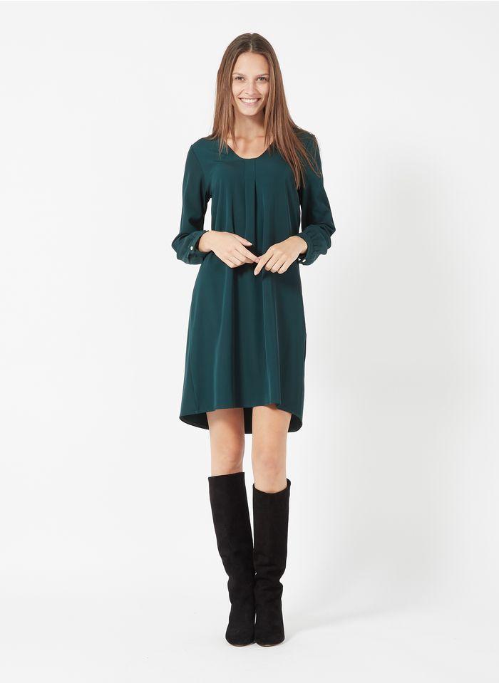 LA FEE MARABOUTEE Robe courte col rond  Vert