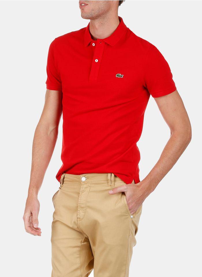 LACOSTE Polo slim-fit en piqué de coton  Rouge