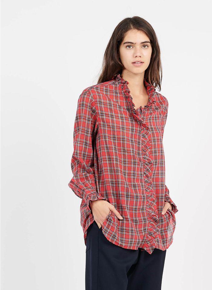 LAURENCE BRAS Chemise à carreaux en coton Rouge