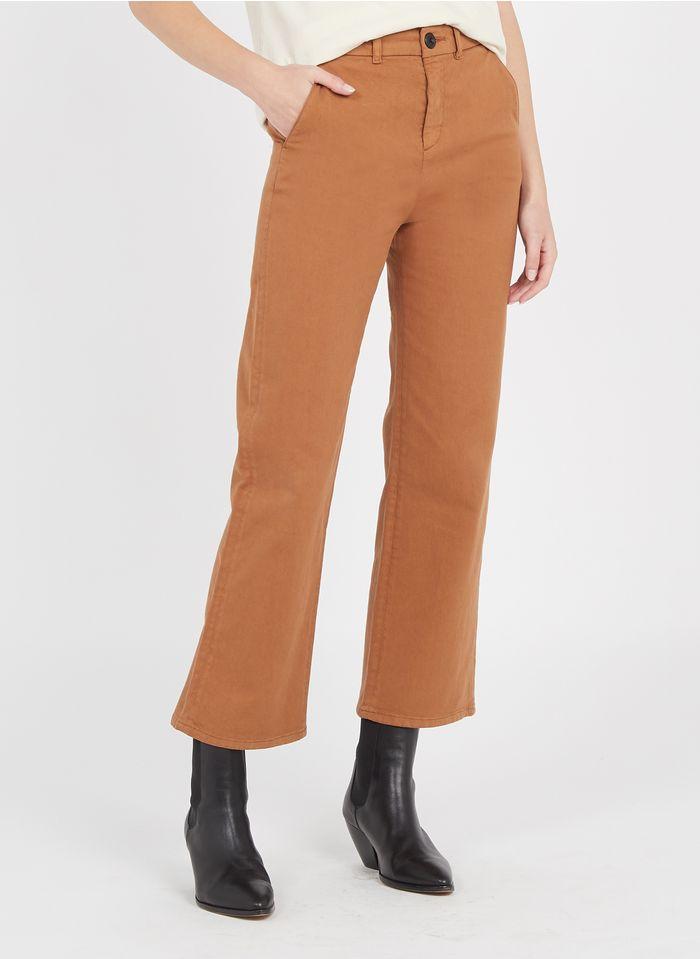 LEON & HARPER Pantalon large en coton Beige