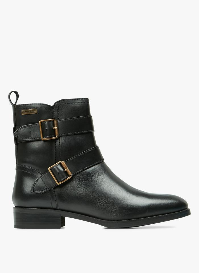 LES TROPEZIENNES Boots avec boucles décoratives en cuir Noir