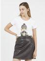 LIU JO Bco ott.emb.skirt Blanc