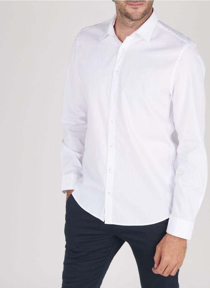 MARC O'POLO Chemise col classique shaped fit en coton Blanc