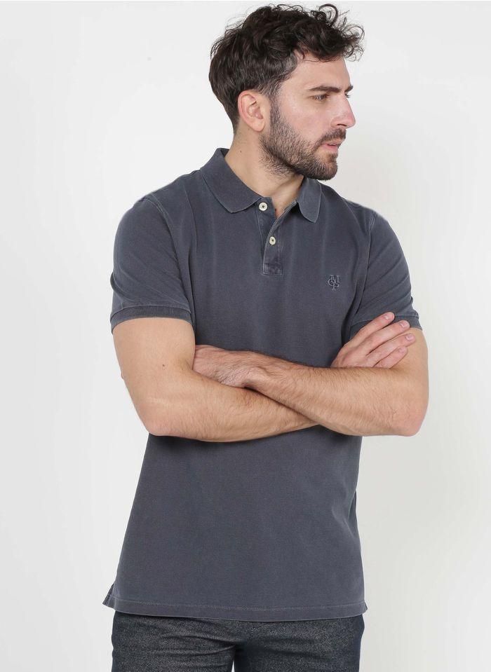 MARC O'POLO Polo regular-fit brodé en coton piqué Bleu