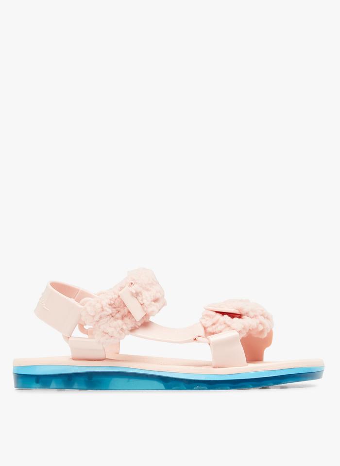 MELISSA Sandales plates à brides en PVC Rose
