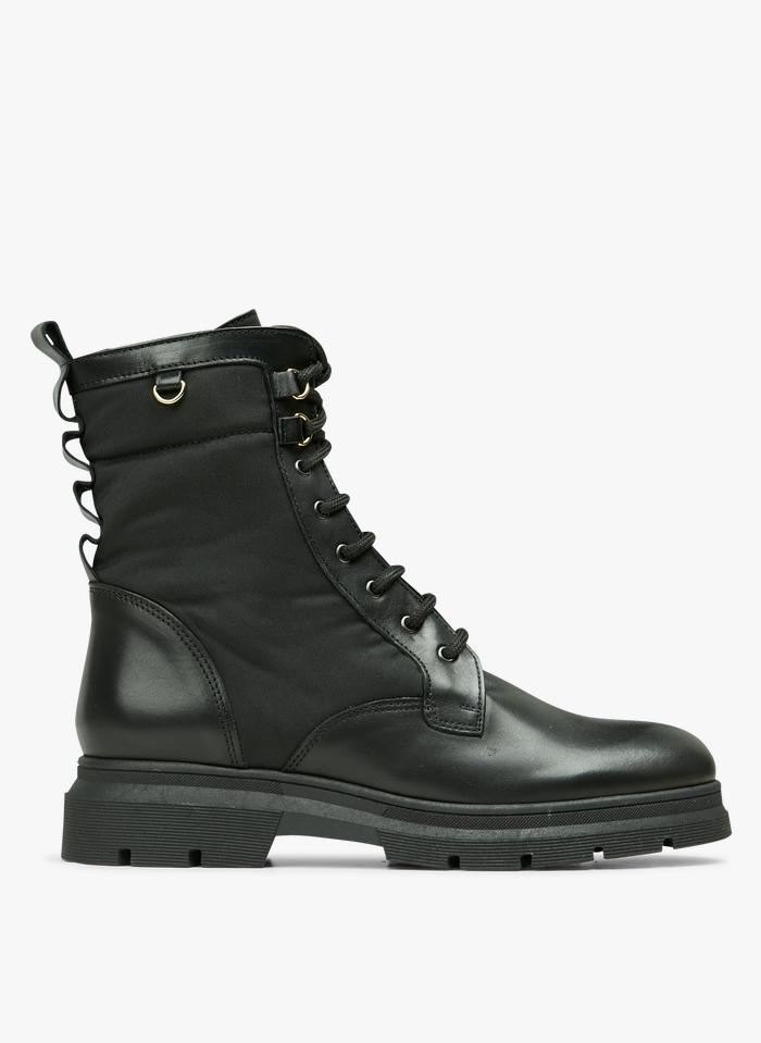 MELLOW YELLOW Boots à lacets bi-matière Noir