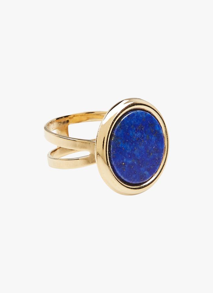 MILA CREATION Bague à cabochon en lapis lazuli Bleu
