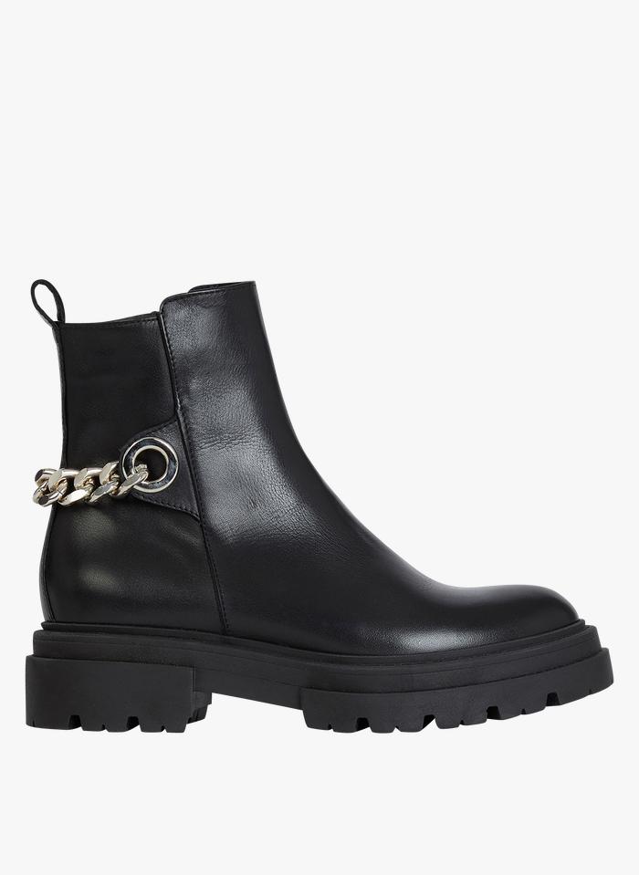 MINELLI Boots en cuir Noir