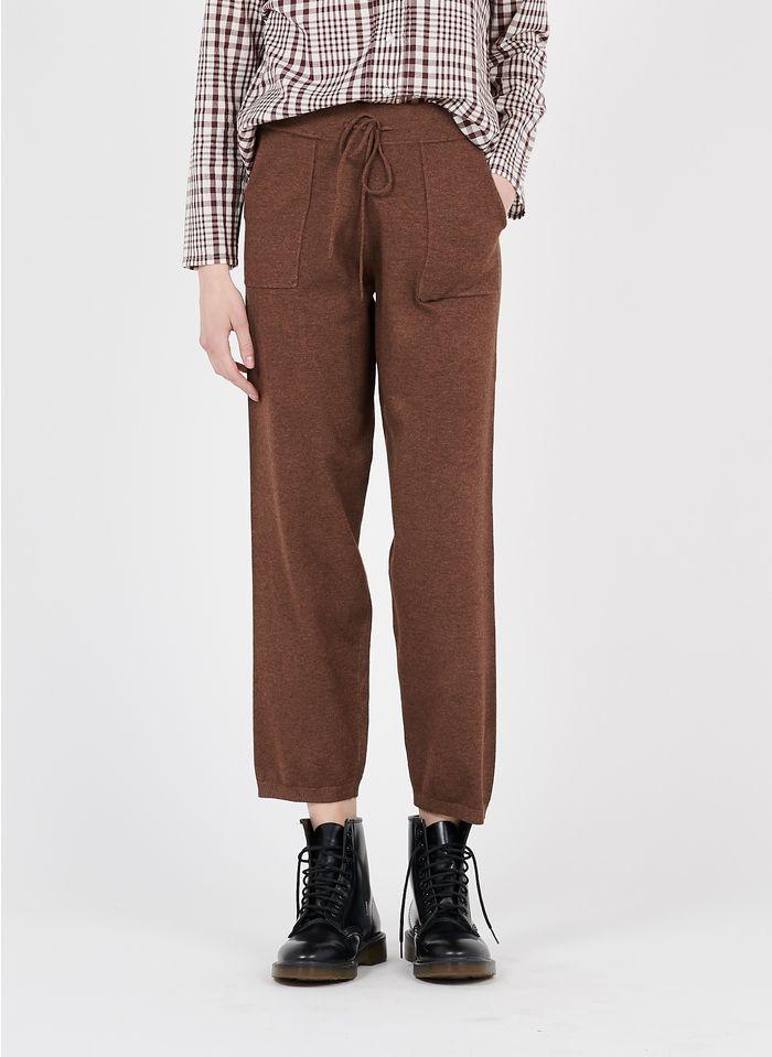 NICE THINGS Pantalon en maille Marron
