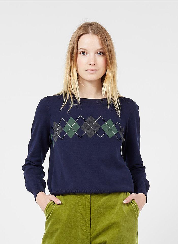 NICE THINGS Pull col rond en laine mélangée Multicolore