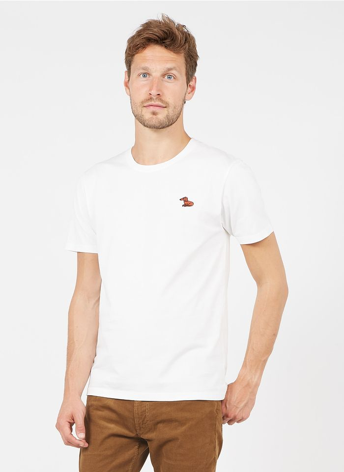 OLOW Tee-shirt col rond regular-fit imprimé en coton bio  Blanc