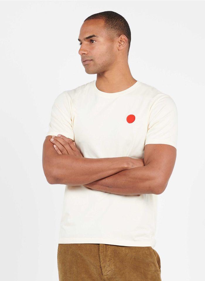 OLOW Tee-shirt col rond  sérigraphié regular-fit en coton biologique Blanc