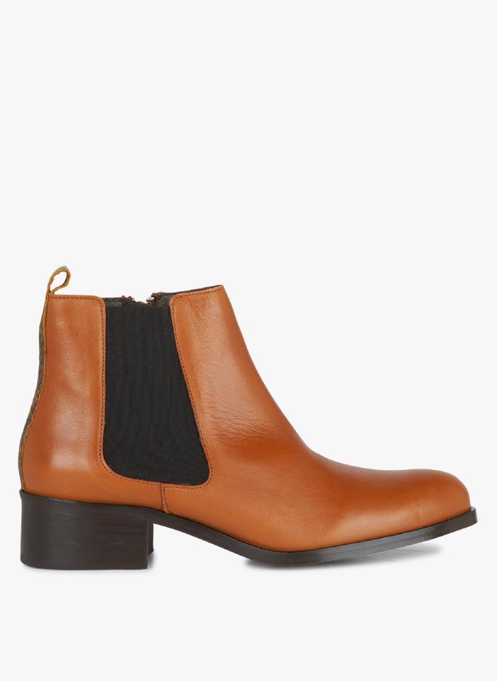 PABLO Boots Chelsea en cuir Marron