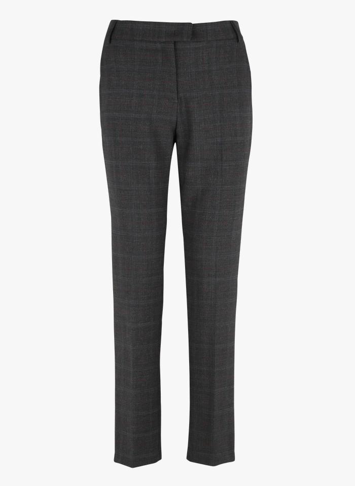 PABLO Pantalon droit à carreaux Multicolore