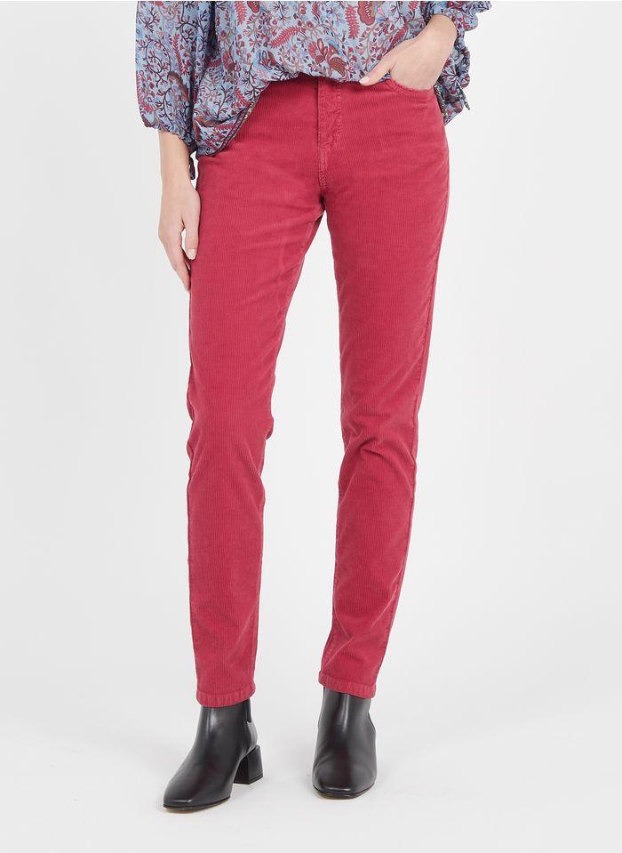 PABLO Pantalon droit en velours côtelé Rose