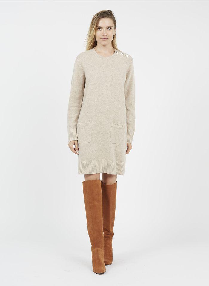 PABLO Robe pull en laine et cachemire Beige