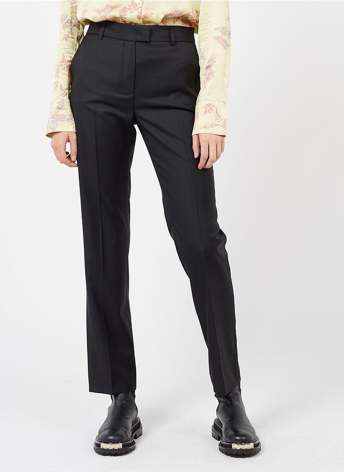 PAUL AND JOE Pantalon slim en laine vierge Noir